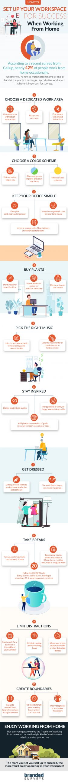 infographic: how to setup a home office