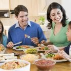 Family Eating a Budget Friendly Meal